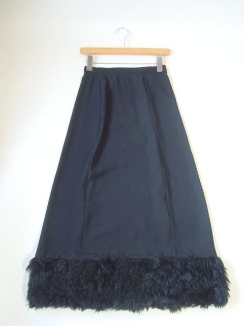 tricot COMME des GARCONS ファー付きロングスカート sizeM トリコ コムデギャルソン_画像1
