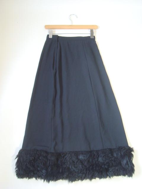 tricot COMME des GARCONS ファー付きロングスカート sizeM トリコ コムデギャルソン_画像2