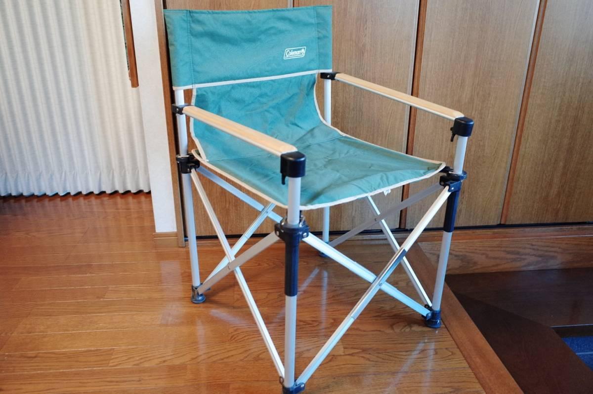 コールマン スリムキャプテンチェア ? グリーン 緑 中古品 COLEMAN イス 椅子 バーベキュー お値打ち