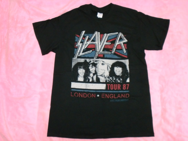SLAYER スレイヤー Tシャツ S ロックT バンドT ツアーT Megadeth Metallica Anthrax ライブグッズの画像