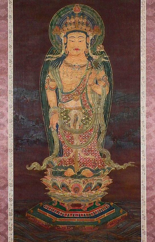 【掛け軸】 仏画 「截金十一面観音像」 鎌倉時代 箱書きあり 所蔵品あり 中国 朝鮮 高麗仏画