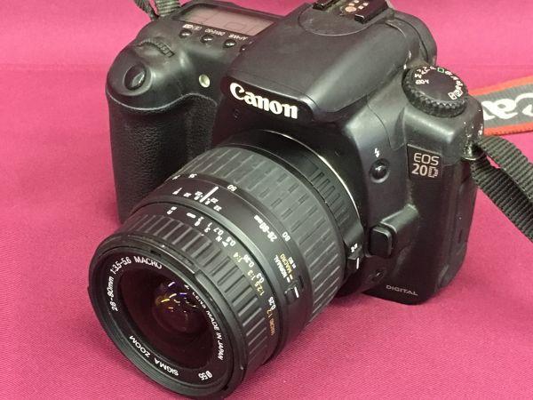 Canon キャノン EOS 20D SIGMA ZOOM 28-80mm 1:3.5-5.6 MACRO 現状品 Gi6707-118b