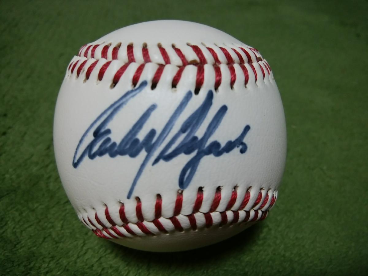 【値下げ交渉可】カルロス・デルガド Carlos Delgado 直筆 サインボール 2000年 日米野球 MLB代表 ブルージェイズ【貴重!直筆本物】