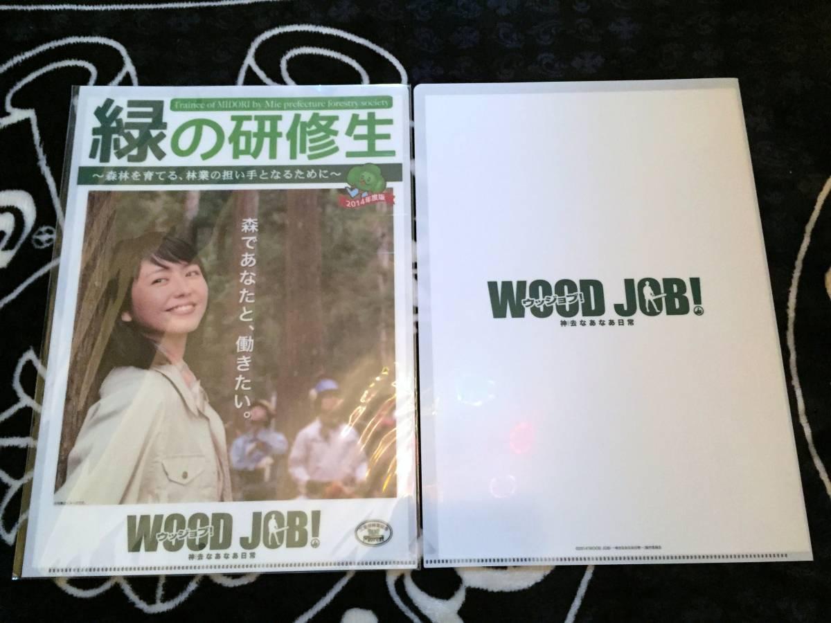 クリアファイル ☆ 長澤まさみ 緑の研修生 林業組合 2枚 グッズの画像