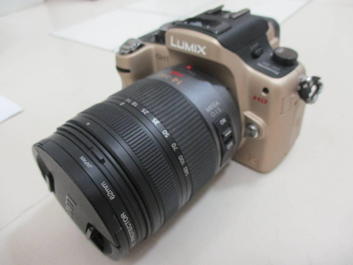 【2079】Panasonic GH1 LUMIX DMC-GH1K 14-140mm/F4.0-5.8 ASPH パナソニック ゴールド