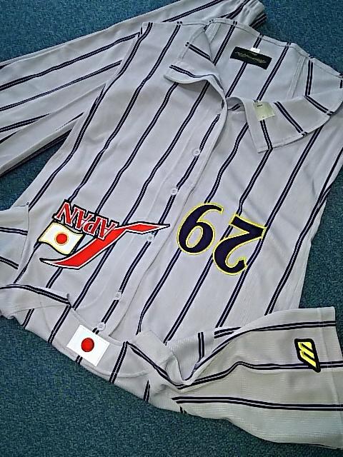 全刺繍。ミズノプロ新品JAPAN背番号29野球日本代表ジャパン。Lサイズ29番。mizunopro 未使用品