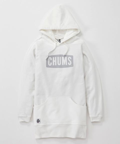 新品 レディース CHUMS (チャムス) Boat Logo Long Parka (ボートロゴロングパーカー) Off White (オフホワイト) サイズ M パーカー