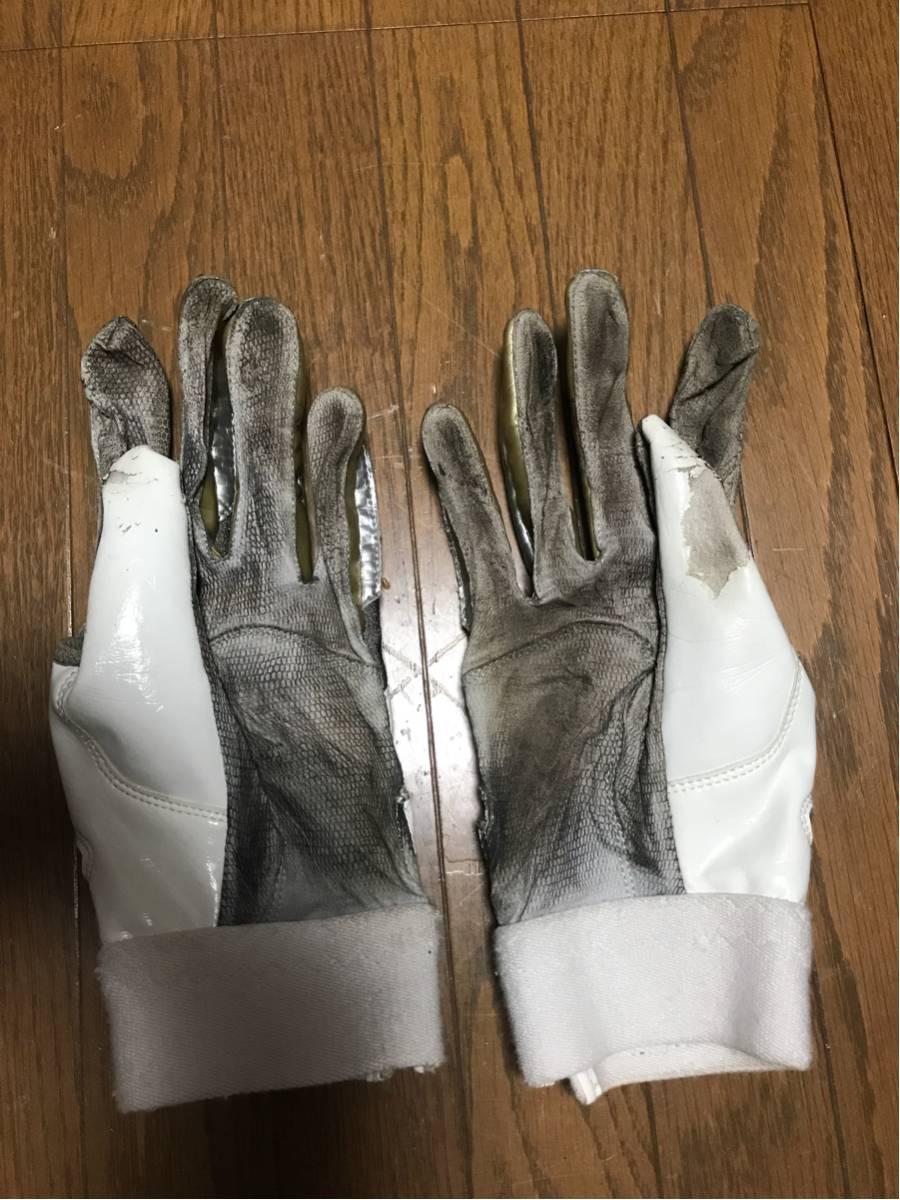 広島カープ43土生選手実使用革手袋_画像2