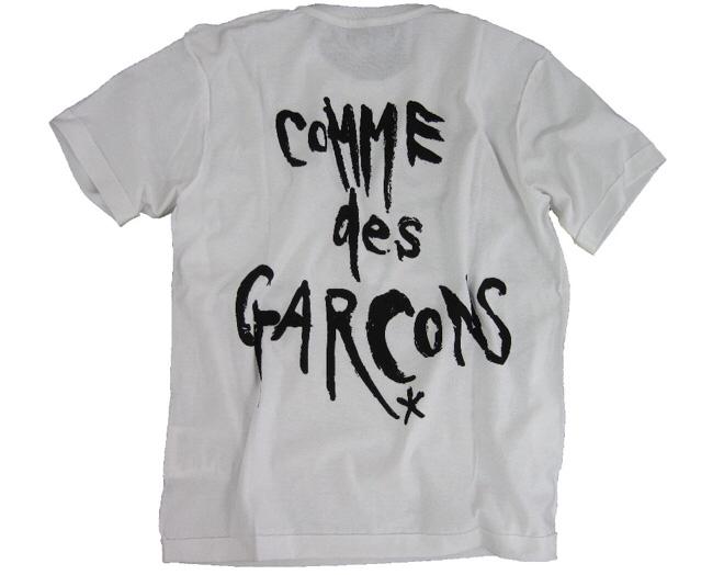 ブラックマーケットコムデギャルソン 白Lサイズ 半袖Tシャツ blackmarket COMME des GARCONS Chic Punk black market ブラック マーケット_画像2