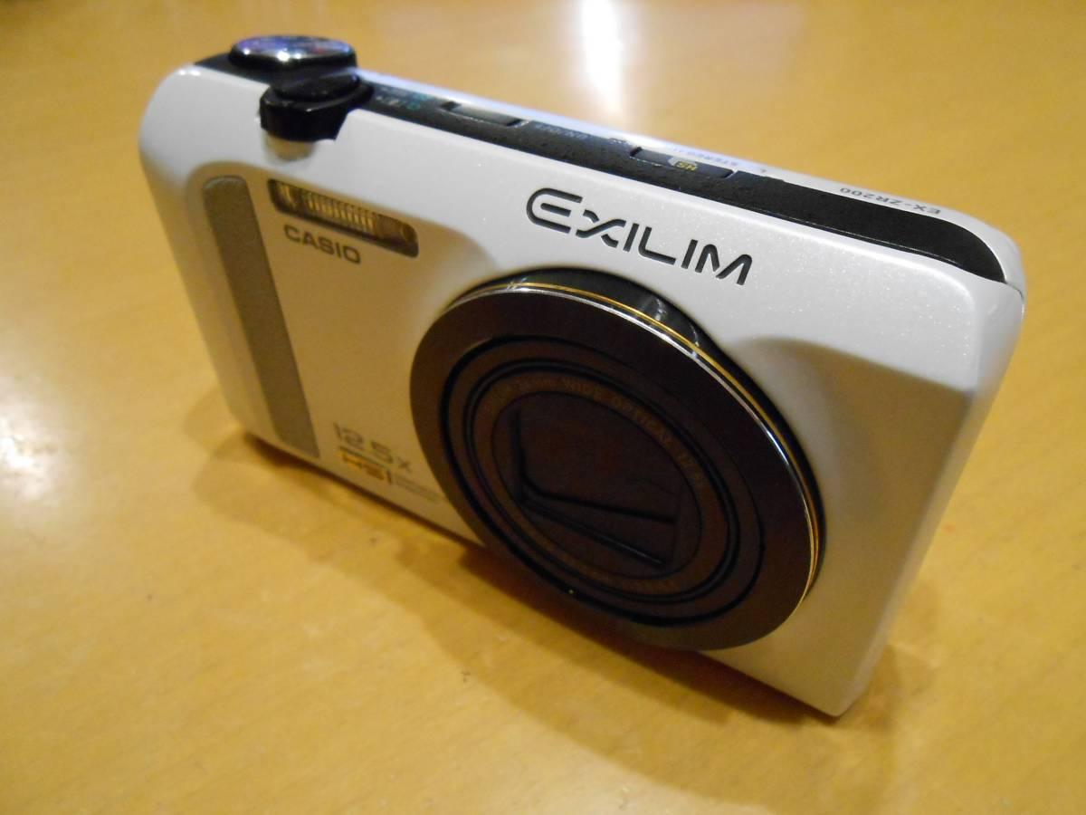 美品!CASIO EX-ZR200(白)/高速連写/ハイスピード