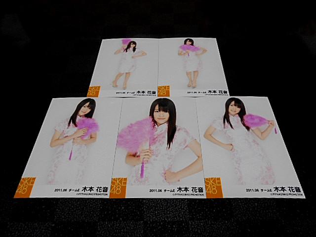 木本花音 生写真5枚 2011.06 チャイナドレス