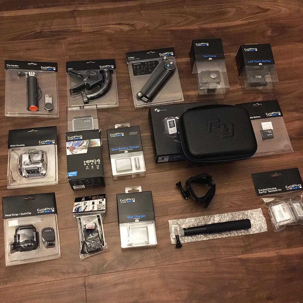 値下げ GoPro HERO4 Black Edition ブラックエディション FEIYUTECH フェイユーテック FY-WG 3軸ウェアラブル安定ジンバル 新品中古未開封