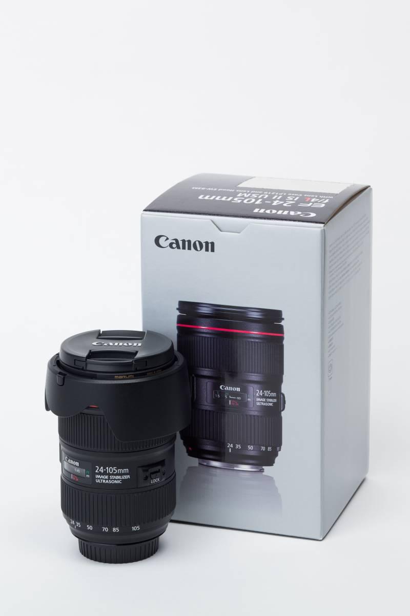 美品 キヤノン CANON EF 24-105mm F4L IS II USM 付属品完備 保護フィルター付き 送料込み