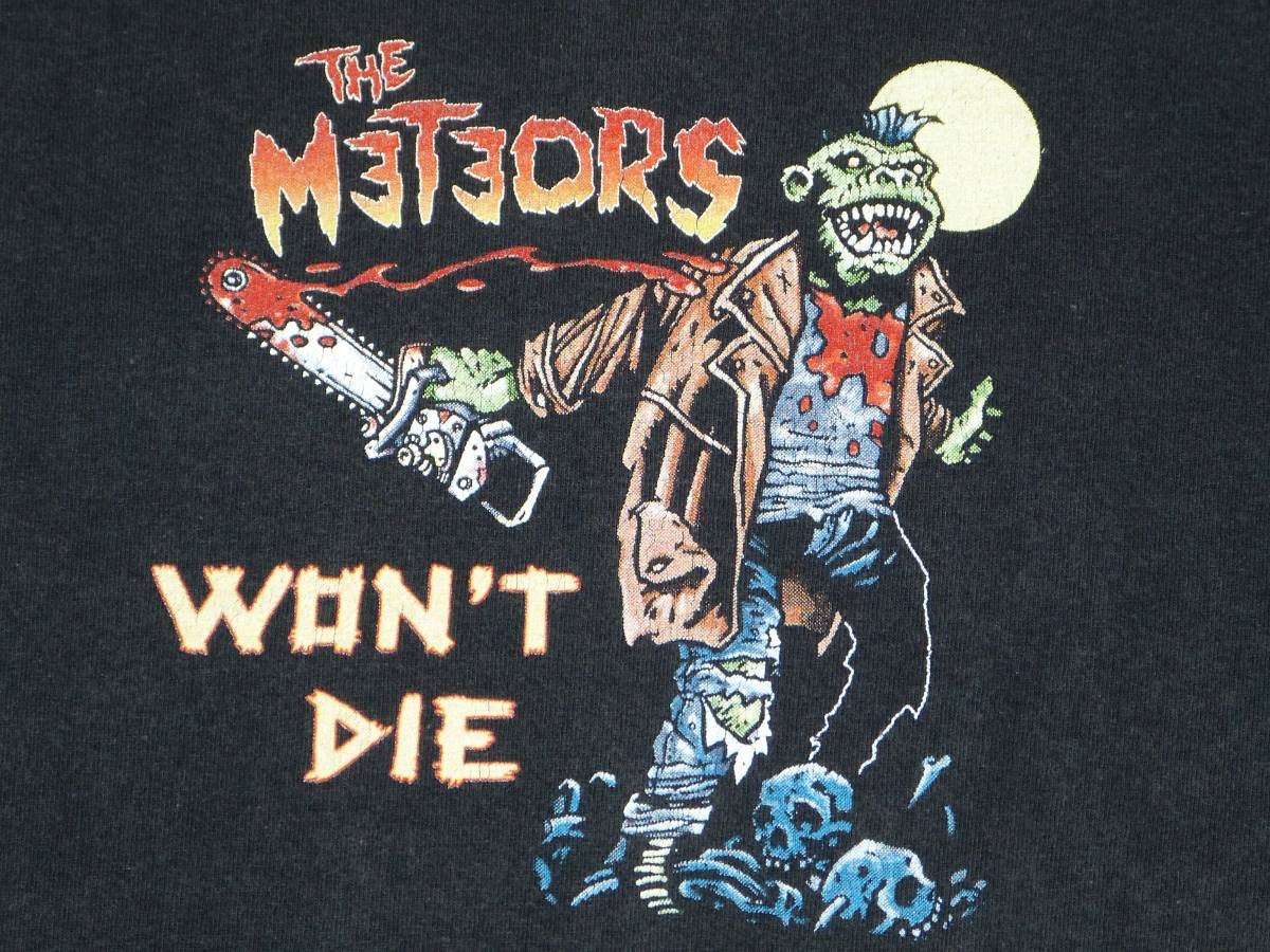 THE METEORS Tシャツ 貴重 サイコビリー CRAMPS FRENZY KLINGONZ DEMENTED ARE GO GUANA BATZ BATMOBILE MAD SIN NEKROMANTIX パンク GISM