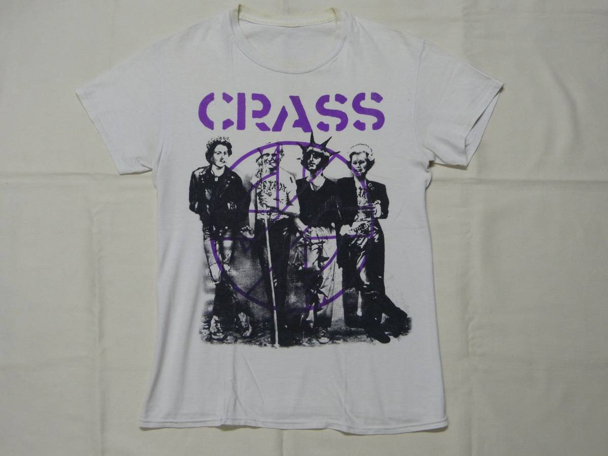 CRASS Tシャツ 貴重 DISCHARGE CHAOS UK EXPLOITED G.B.H THE SWANKYS CONFUSE CRUST blackmeans fuudobrain undercover 666 パンク GISM