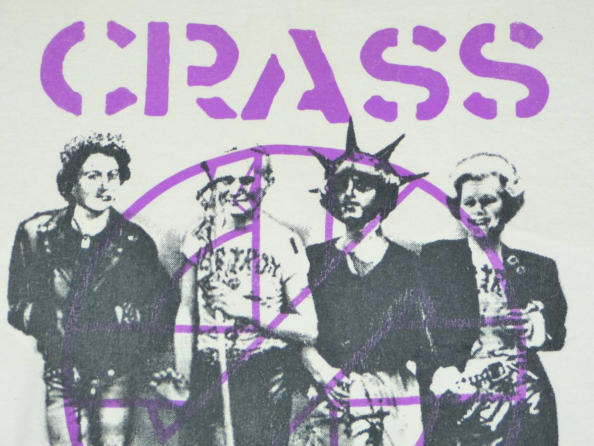 CRASS Tシャツ 貴重 DISCHARGE CHAOS UK EXPLOITED G.B.H THE SWANKYS CONFUSE CRUST blackmeans fuudobrain undercover 666 パンク GISM_画像2