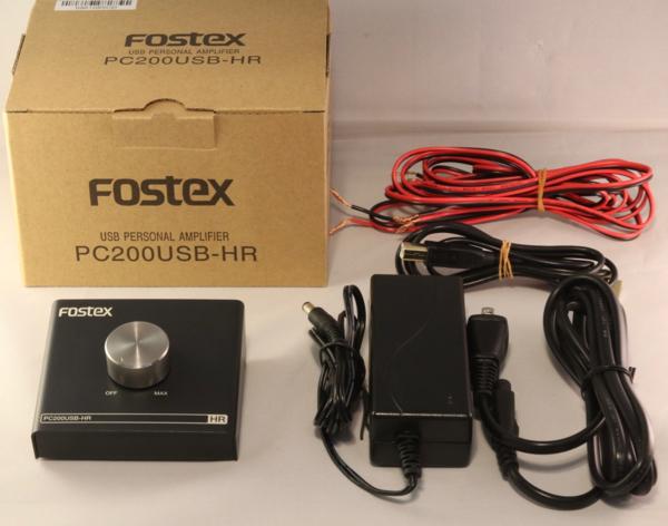 新品同様★FOSTEX PC200USB-HR パーソナル・アンプ★送料無料・付属品完備