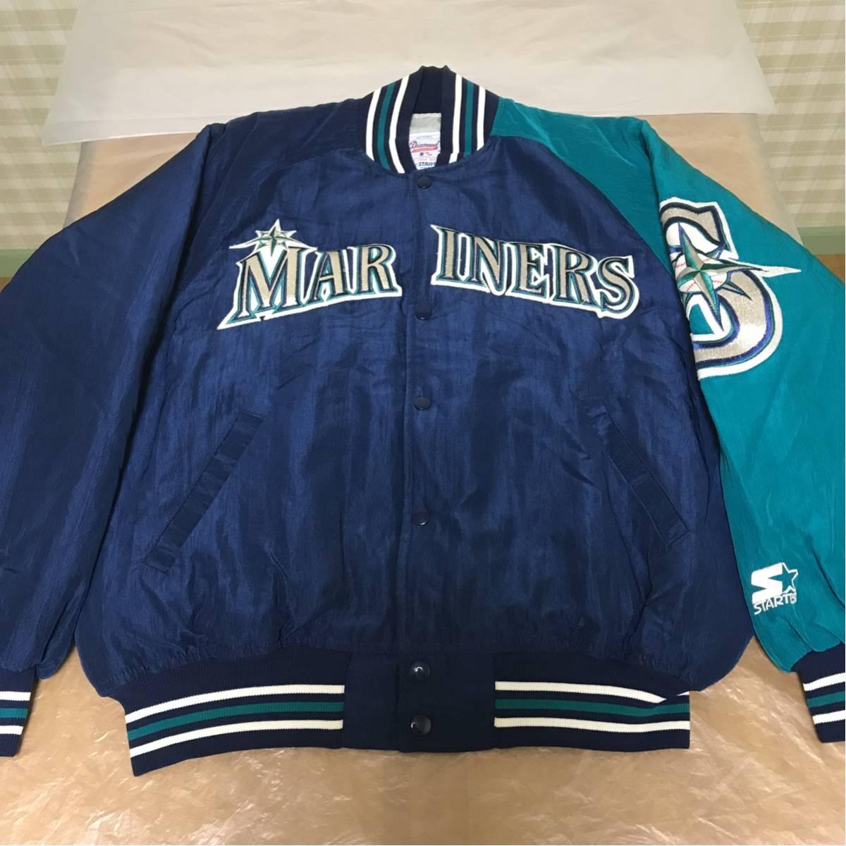 STARTER スターター MLB マリナーズ 中綿 ナイロン スタジャン Mサイズ アメリカ製 USA製 状態良好 グッズの画像