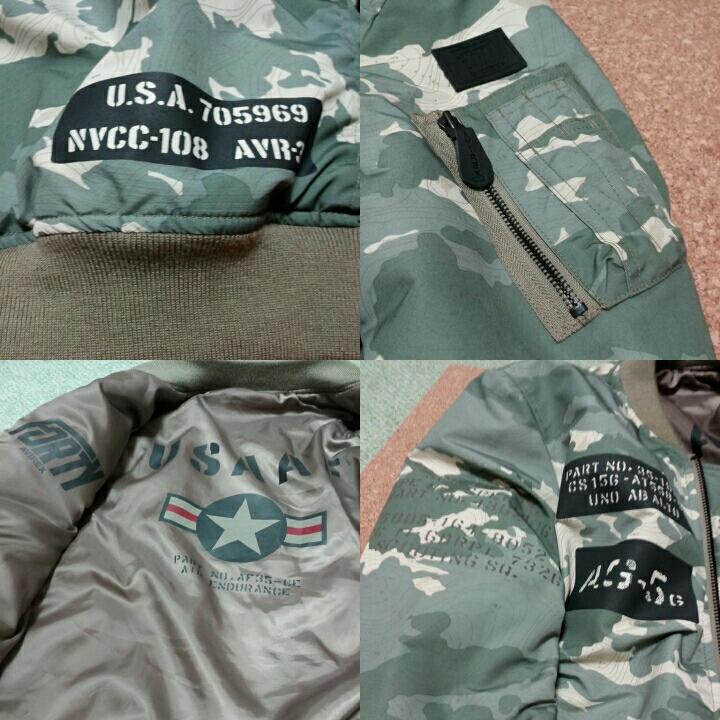 AVIREX アビレックス U.S.A.A.F. MA-1 ステンシルモデルジャケット 未使用 _画像3