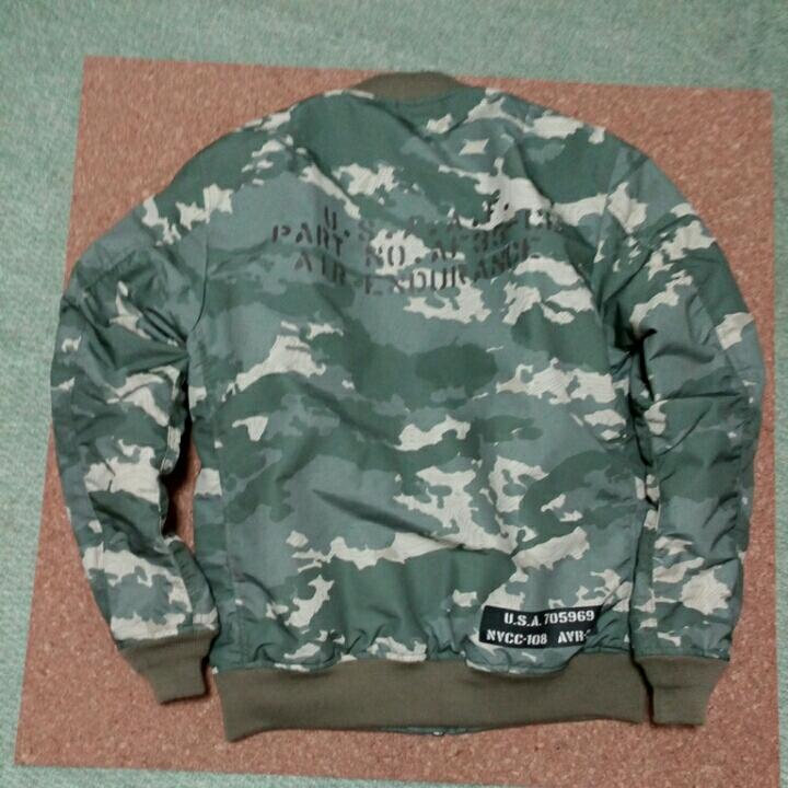 AVIREX アビレックス U.S.A.A.F. MA-1 ステンシルモデルジャケット 未使用 _画像2