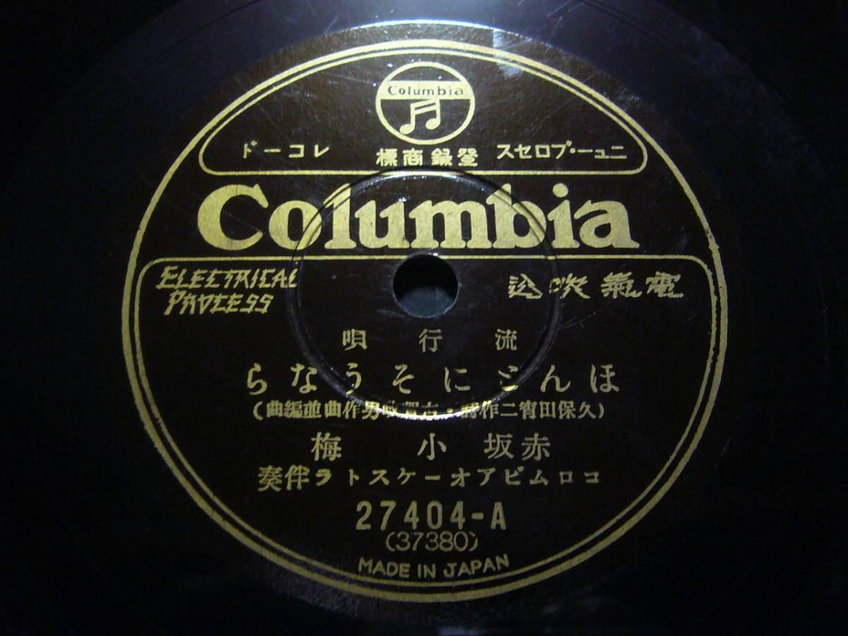 ■SP盤レコード■ヘ33(A) 中野忠晴 旅がらす 小梅 ほんとにそうなら 歌詞カード付_画像2