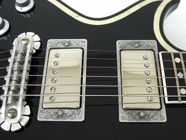 美品 中古 ZEMAITIS GZ2600IF/LH BK ゼマイティス シェルインレイ マザーオブパール 音楽 楽器 エレキ ギター O2567710_画像7