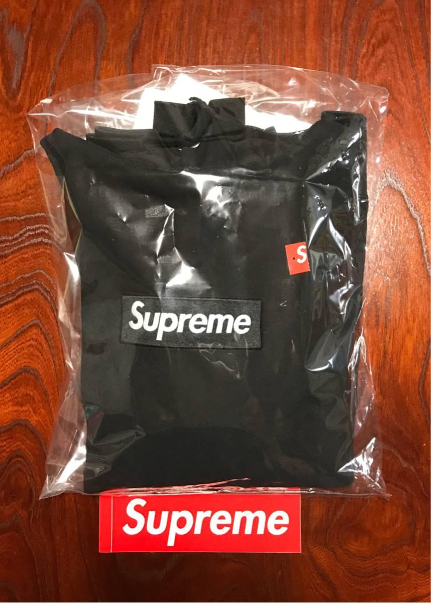【確実正規品 美品】半タグステッカー付 Supreme Box Logo パーカー ブラック L Hooded Sweatshirt Pullover 12aw 黒 ボックス 17aw 17ss