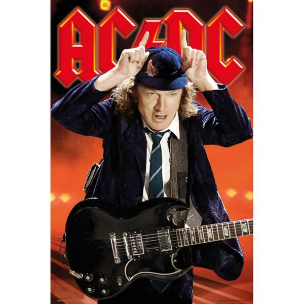 AC/DC 海外限定ポスター 正規品 貴重 ハードロック ブルースロック ロックンロール ヘヴィメタル アクセルローズ