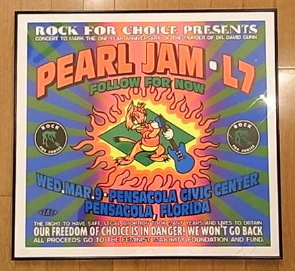 ■TAZ限定PEARL JAM・L7シルクスクリーンポスター1993タッズ パールジャム エルセブン