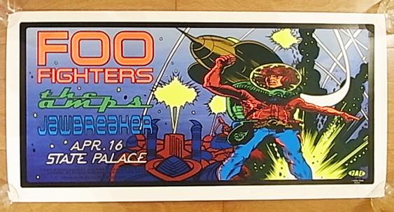 ■TAZ限定FOO FIGHTERSシルクスクリーンポスター1996タッズ フーファイターズ NIRVANA