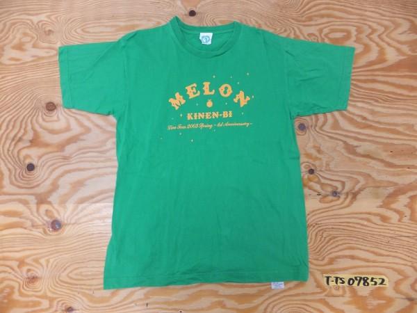Hello Project ハロープロジェクト ハロプロ メロン記念日 Live Tour 2003 Spring 1st Anniversary ロゴプリントTシャツ 緑 グリーン ライブグッズの画像