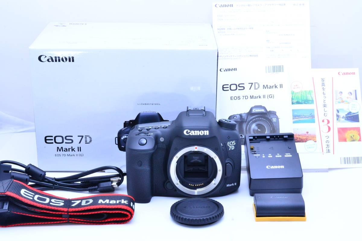 ★新品級★キヤノン CANON EOS 7D Mark II マーク2 元箱・付属品付き ★非常に綺麗で絶対納得のコンディション!!