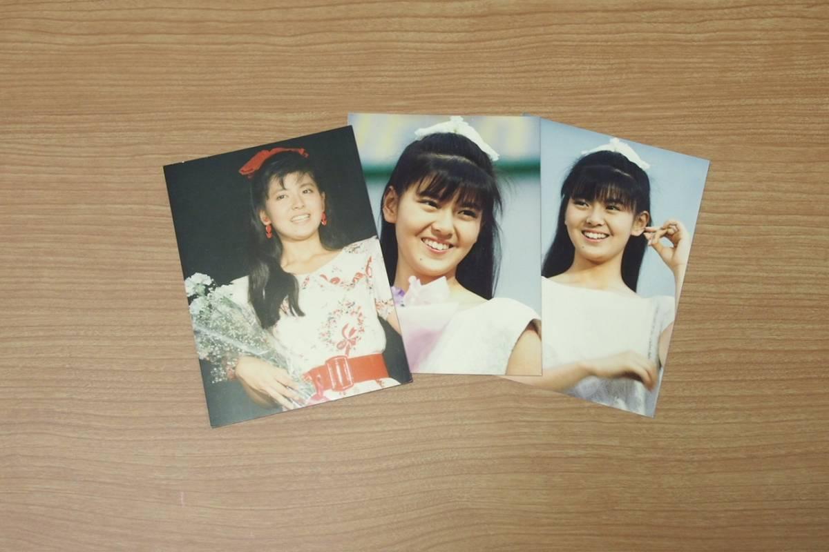 ★南野陽子 ブロマイド 80年代 アイドル 当時物 写真 3枚セット その1★