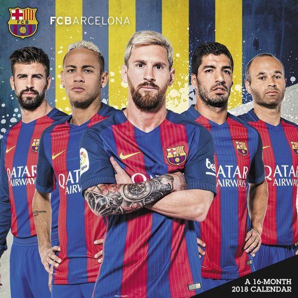 2018年 FCバルセロナ★@輸入カレンダー [18R1635710901OPR] 60x30cmポスターとしても 楽しめる!