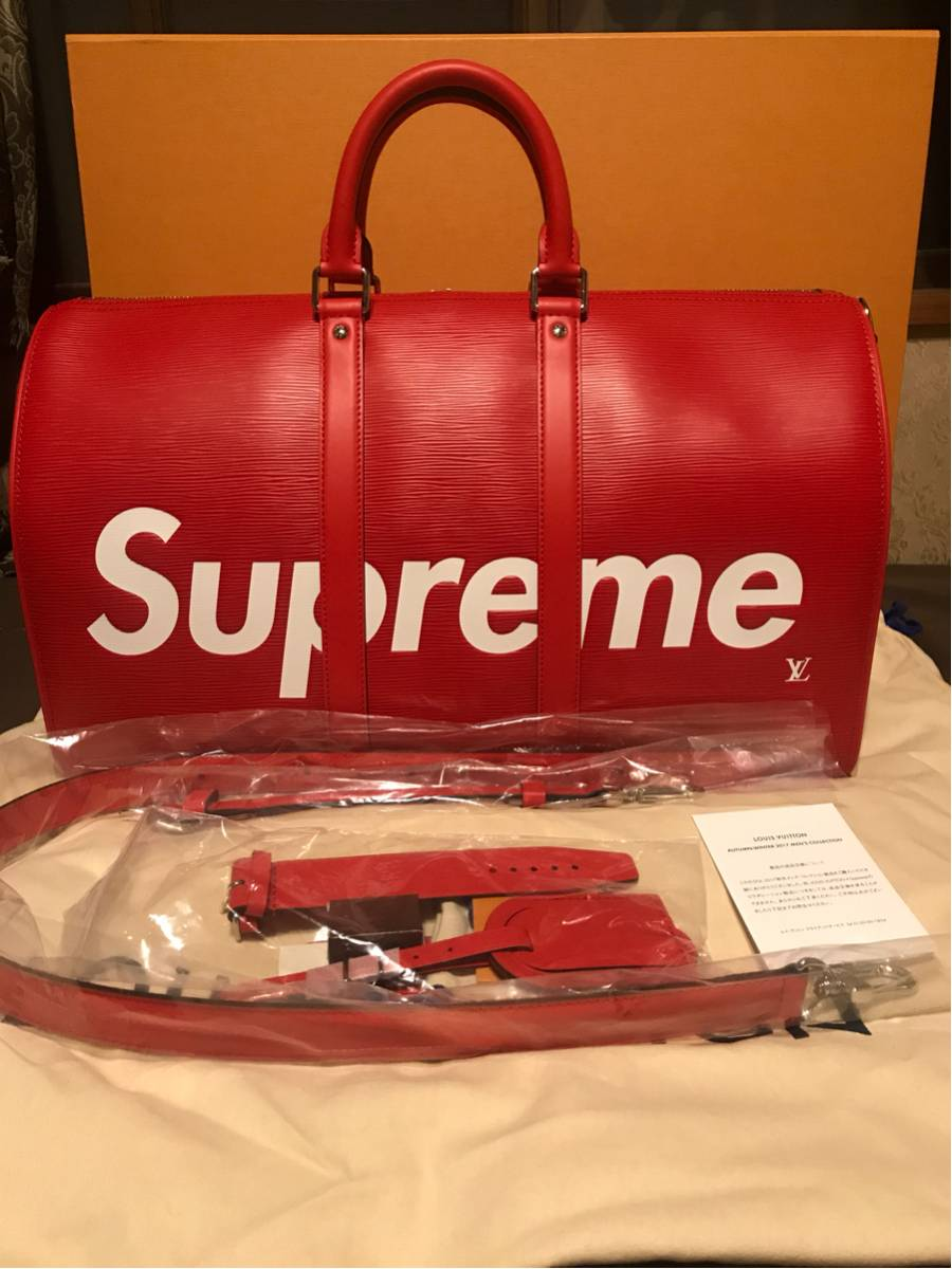 【国内正規品】Louisvuitton ×Supreme keepall45 RED シュプリーム キーポル45