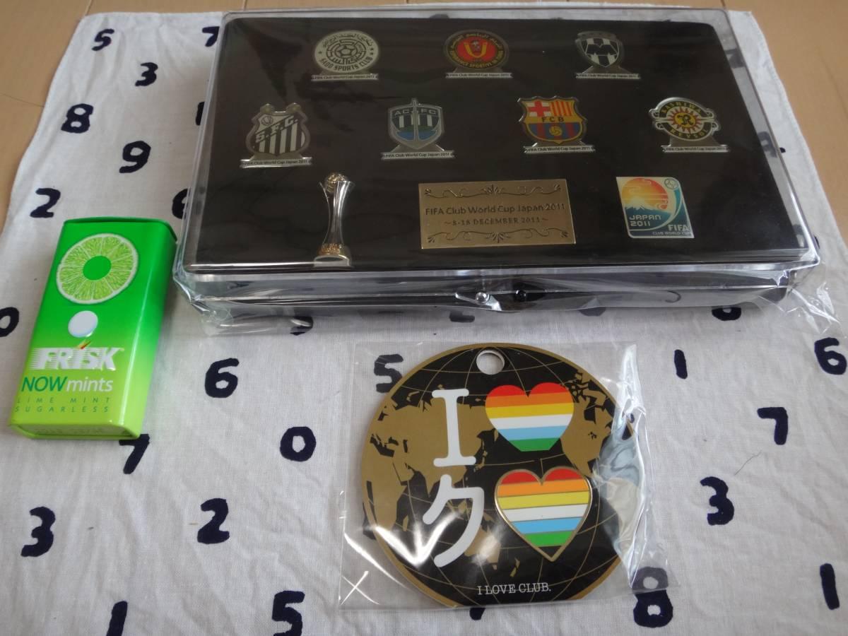 FIFA Club World Cup Japan 2011 ピンバッジセット & I LOVE CLUB ピンバッジ。【柏レイソル出場/FCバルセロナ】 グッズの画像