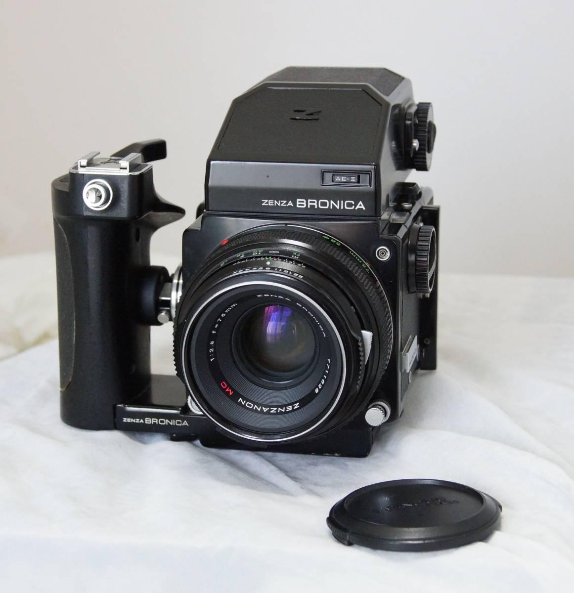 正常作動★ブロニカ BRONICA ETR +75mmF2.8+ AE-Ⅱファインダー・グリップ付き