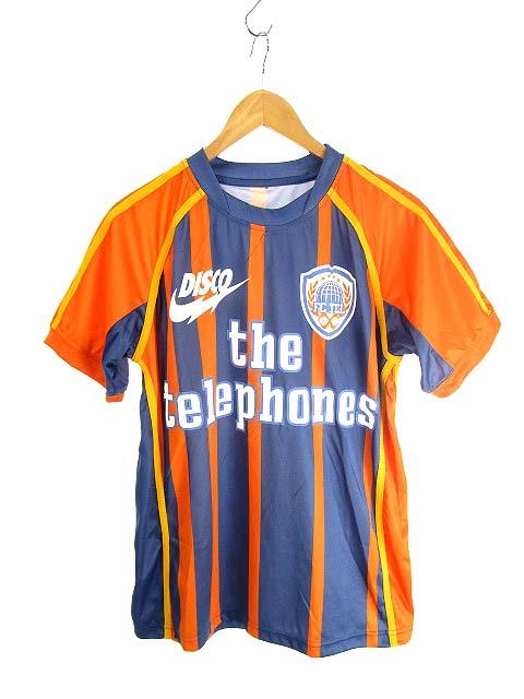 ザテレフォンズ Tシャツ サッカーシャツ ストライプ 10周年 M