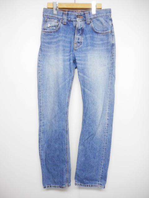 ヌーディージーンズ nudie jeans Average Joe デニム ジーンズ パンツ ストレート ウォッシュ W30 インディゴ 青 NJ1986/U21 メンズ