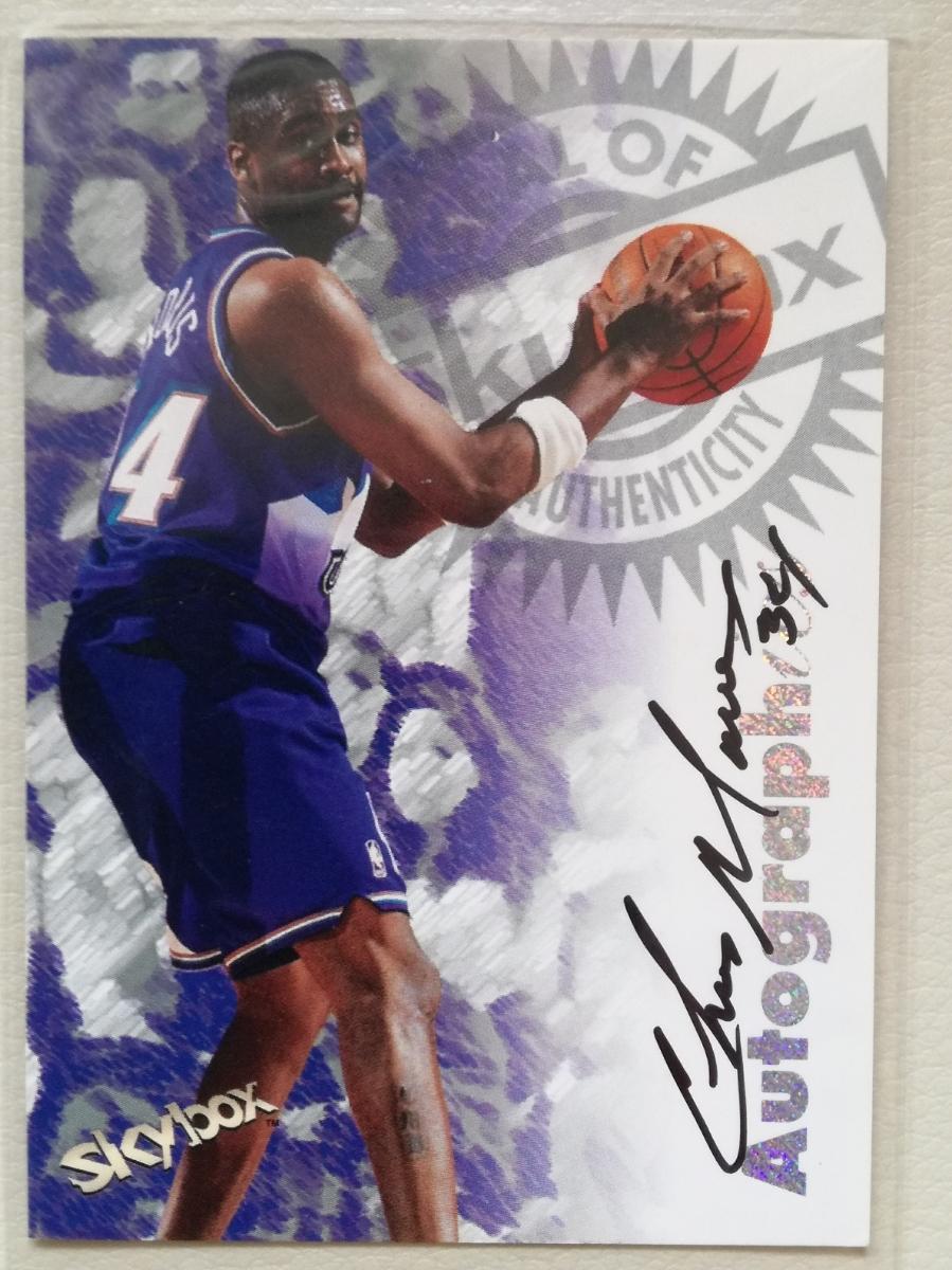 NBA CHRIS MORRIS サインカード 97-98 Skybox Premium Autographics Century Marks  グッズの画像