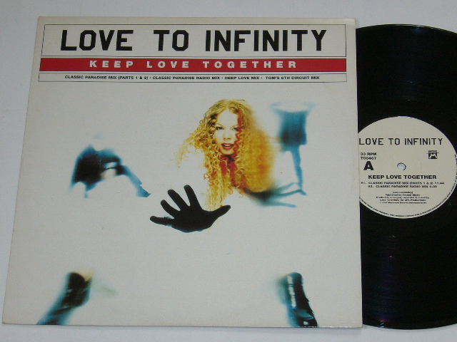 LOVE TO INFINITY / KEEP LOVE TOGETHER / 1995年盤 / T00467 / UK盤 / 試聴検査済み_画像1