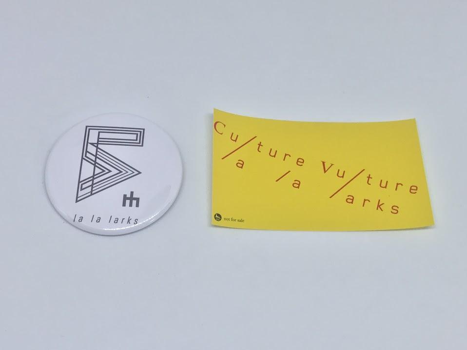 【新品・非売品】la la larks アルバム「Culture Vulture」インストアイベント限定缶バッチ+ステッカー school food punishment 坂本真綾