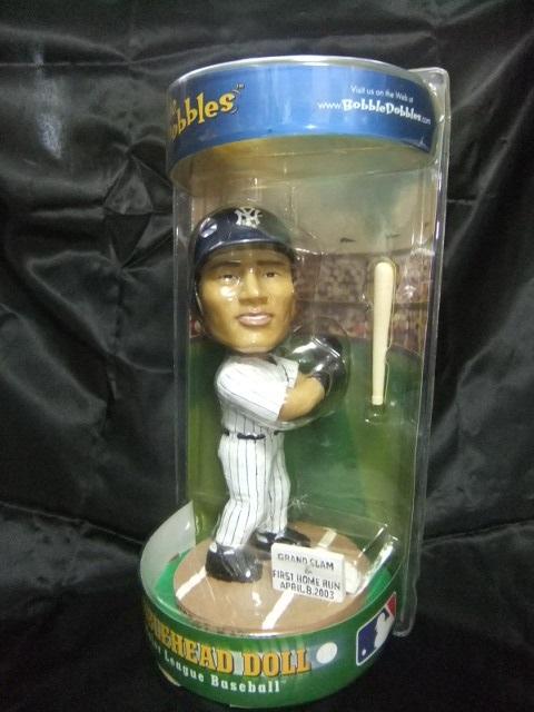 【新品未開封】松井秀喜 ヤンキース 2003年初満塁ホームラン バブルヘッド人形 グッズの画像