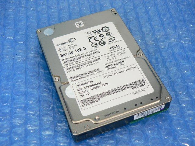 1BFV // Seagate Savvio 10K.3 ST9300603SS 300GB 2.5インチ SAS 10000rpm 6Gb/s (A3C40106735)//Fujitsu PRIMERGY RX300 S6 取外 // 在庫7_画像1