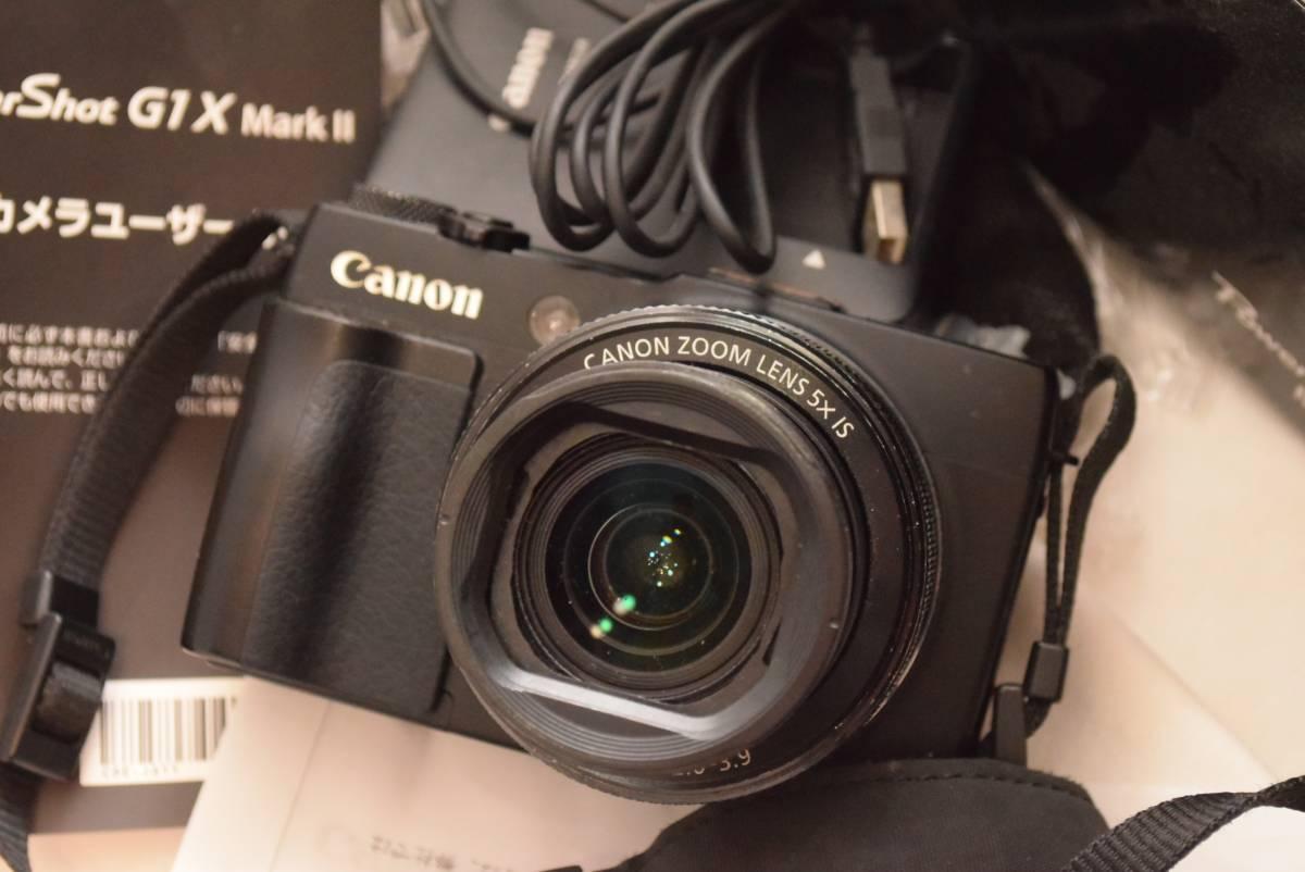 元箱付 Canon パワーショット G1x Mark II G1Xマーク2 キャノンサービスで2016/10月整備済み(レンズとユニット全部交換)伝票有