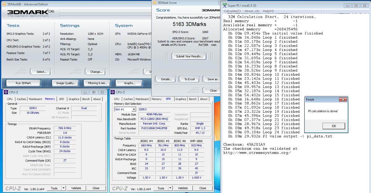 Panram DDR3 4GB×2=8BGセット, PC14900, 933mHz, xmp-1866_画像2