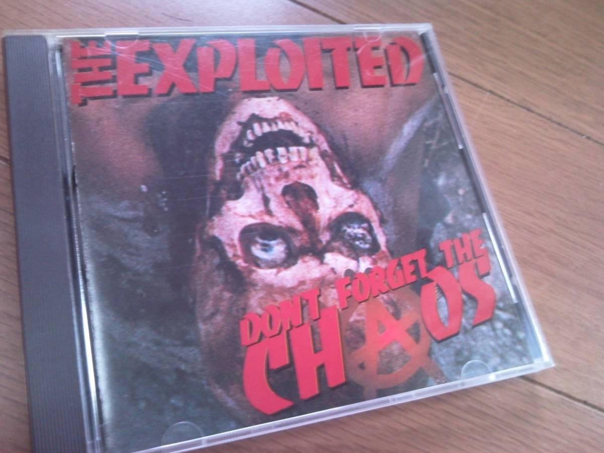 ♪■【CD】THE EXPLOITED/DON'T FORGET THE CHAOS■レア盤 エクスプロイテッド DISCHARGE HARDCORE PUNK_画像1