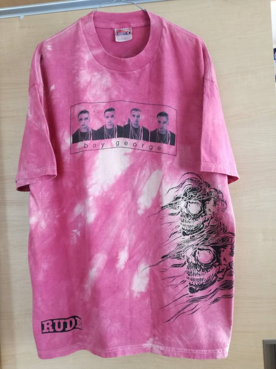 90s CULTURE CLUB ボーイジョージ Tシャツ size XL MADONNAMichael Jackson rap tee kanye