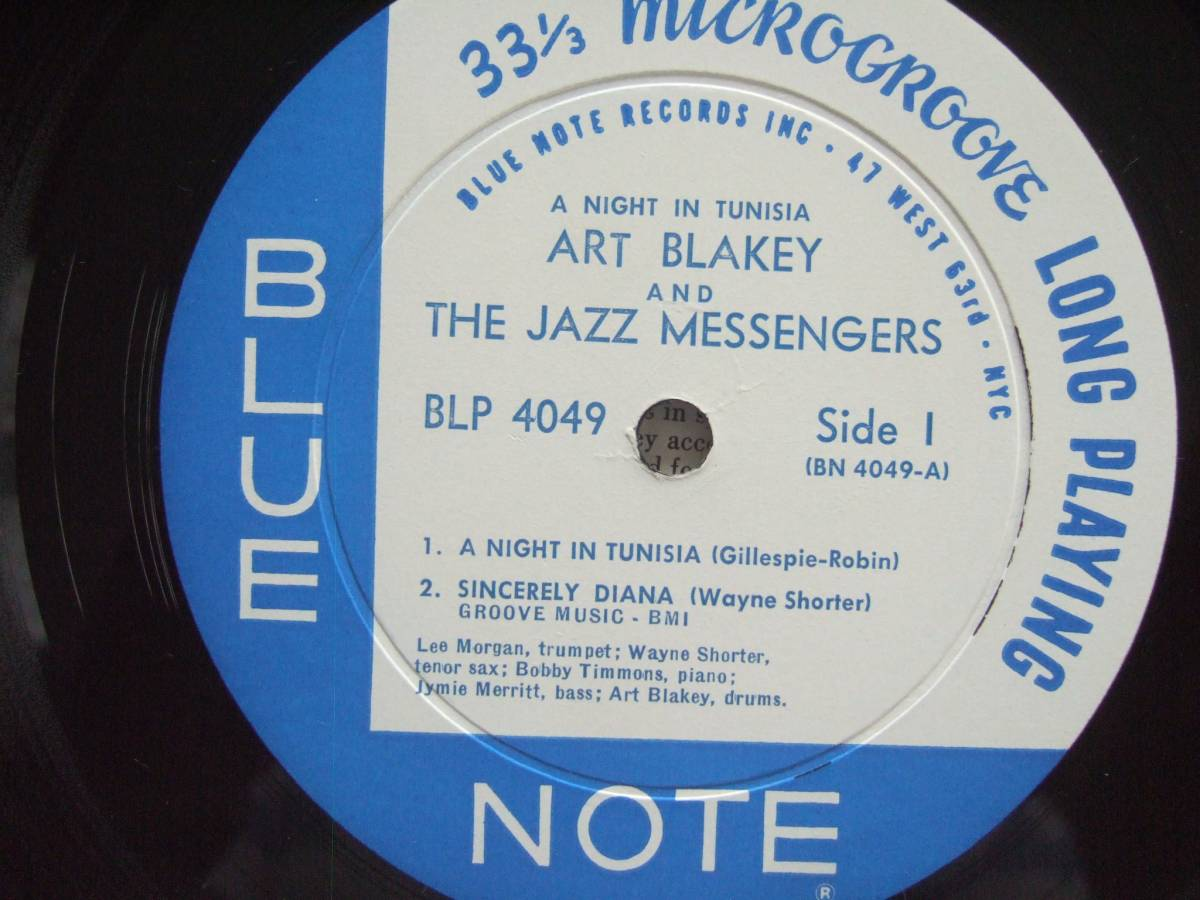 BlueNote Art Blaky/A Night In Tunisia 両ミゾ、63rd、完オリ!_画像3