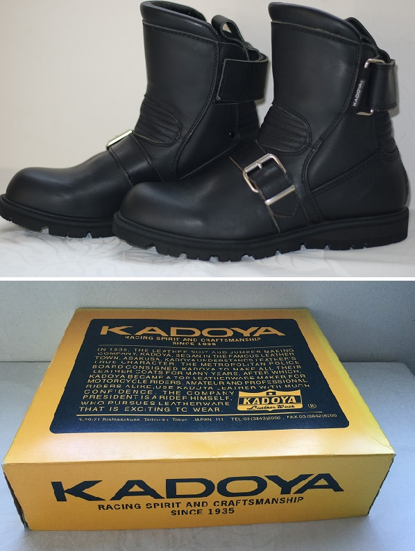 エンジニアブーツ KADOYA BLACK ANKLE 23.5cmでもOK。未使用 新品同様 送料無料